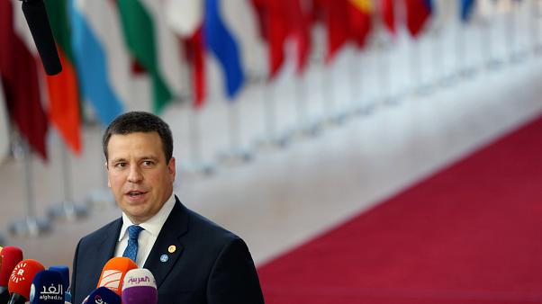 Estonia's Prime Minister Juri Ratas in Brussels, Belgium, June 28, 2018.