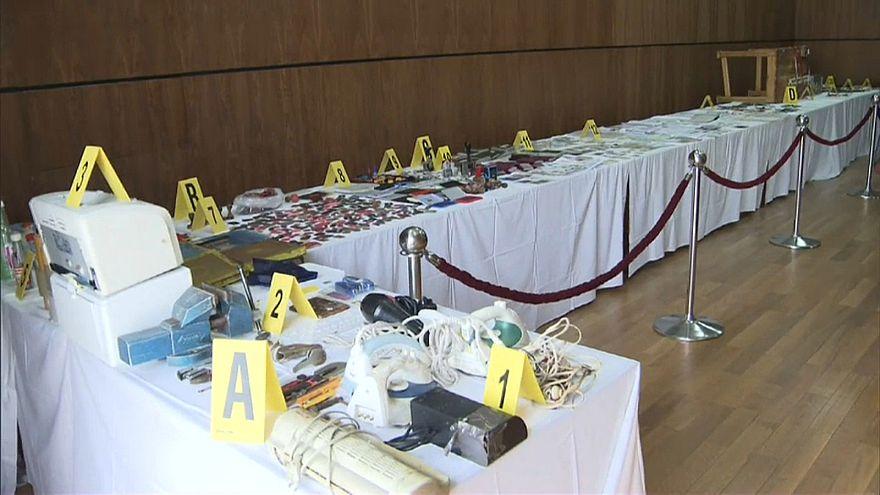 بعض الأدوات التي تم ضبطها