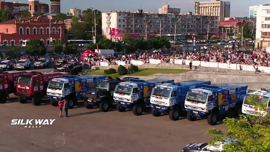 Mise en route du Silk Way Rally 2018 en Russie