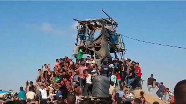 İsrail Gazze'ye havadan ve karadan saldırdı, Abbas uluslararası topluma çağrı yaptı