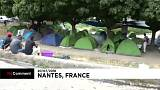 Nantes : un camp de migrants en plein centre-ville