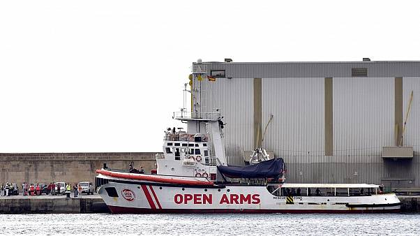 Le bateau de l'ONG espagnole Pro Activa Open Arms accoste à Majorque