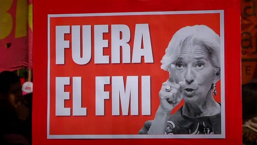 Demonstrationen gegen IWF in Buenos Aires