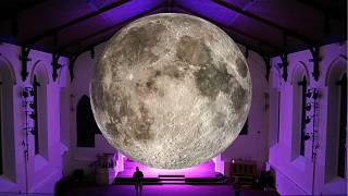 Giant moon disappears en route to Austria