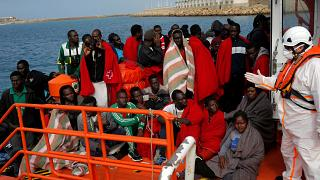 Hundreds of migrants rescued off Spain