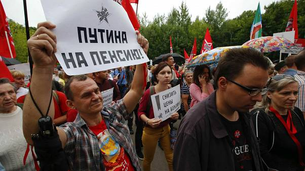 Moscow protest over government plan to increase the retirement age