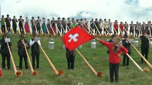 سويسرا تحتفل بالبوق في أكبر مهرجان عالمي