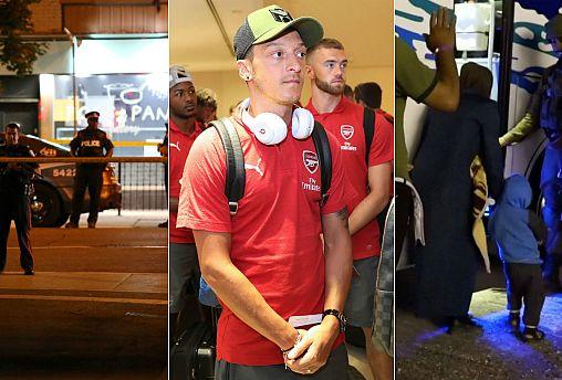 Toronto shooting, Mesut Ozil, White Helmets evacuation