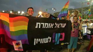 israil protesto lgbt hakları