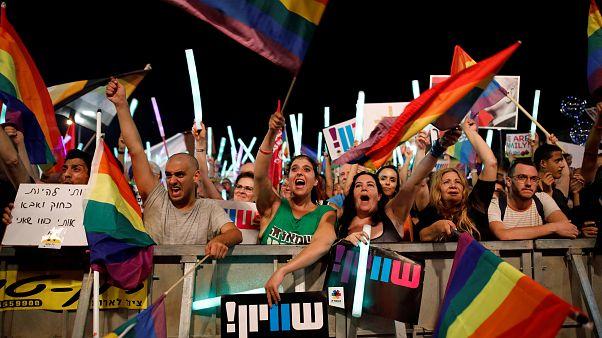 Massenproteste für LGBT-Rechte in Israel