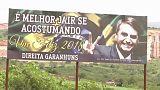 Affiche électorale du candidat Jair Bolsonaro à la présidence brésilienne