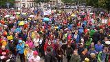 Manifestación en Múnich en contra de la política de la CSU