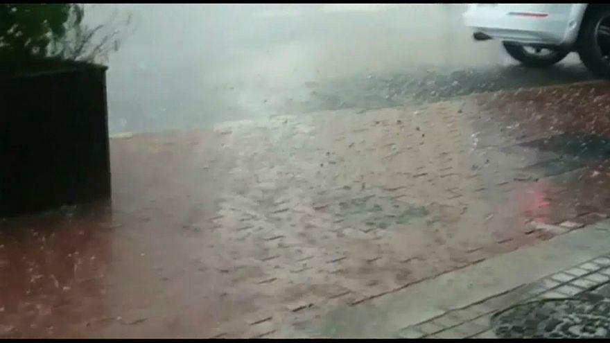 dolu fırtınası, katalonya, ispanya