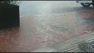 سقوط أمطار طوفانية في برشلونة