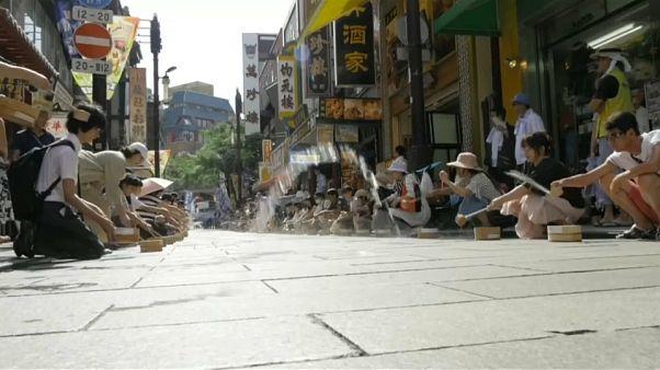 Temperaturas no Japão batem recordes