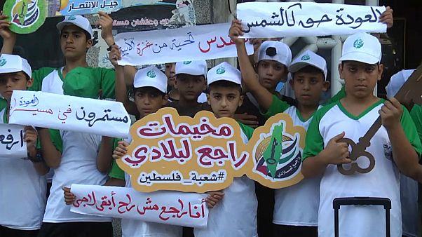 filistinli çocuklar israil protestosu