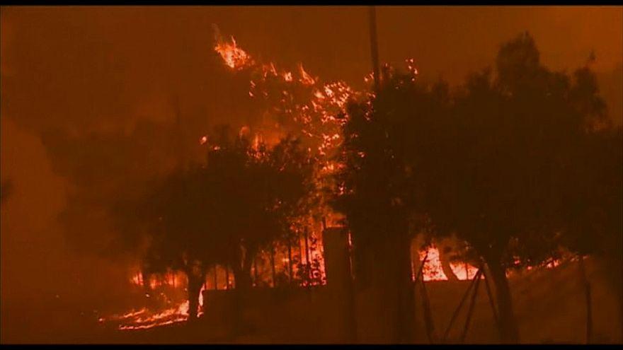 Fogos avançam nos arredores de Atenas