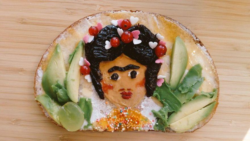 Frida Kahlo - als Kunst auf Brot