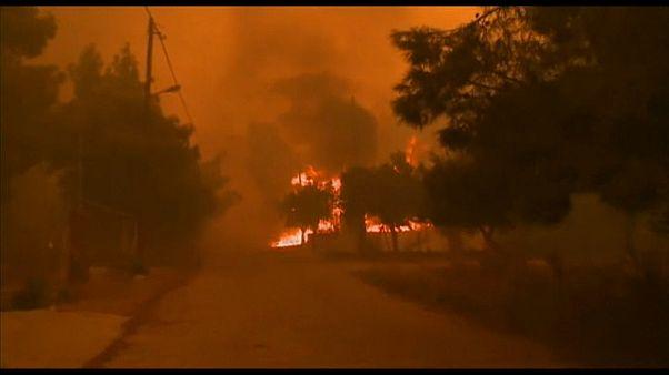 Schwere Brände in Griechenland