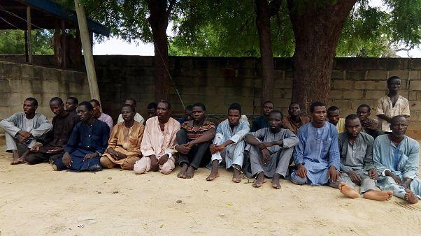صورة أرشيفية لأشخاص يشتبه بانتمائهم لجماعة بوكو حرام