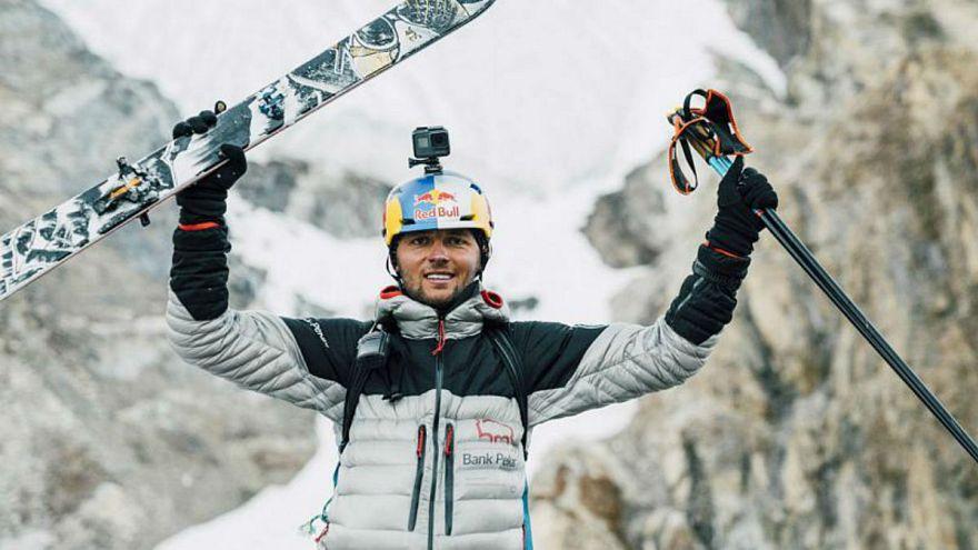 Andrzej Bargiel celebrates his success.