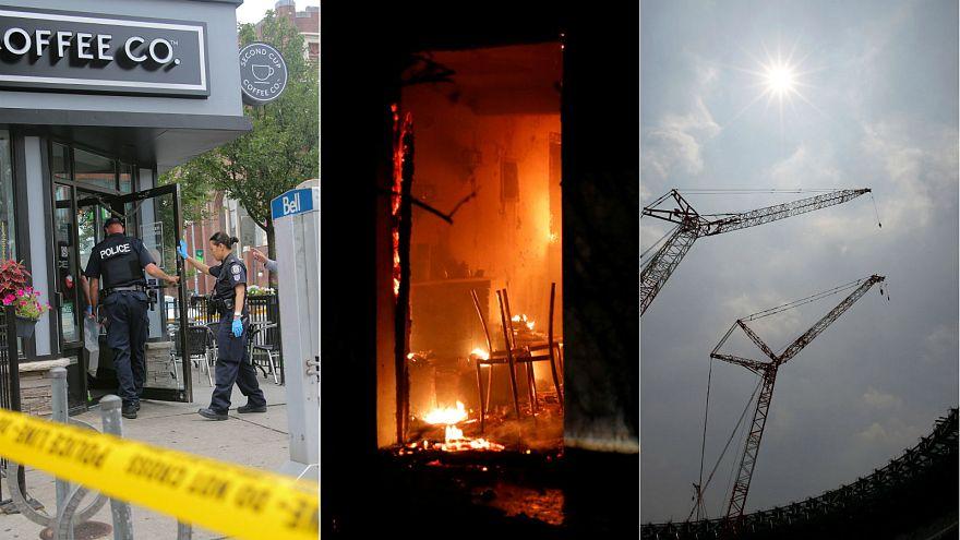 Toronto shooting scene, wildfires in Greece, heatwave