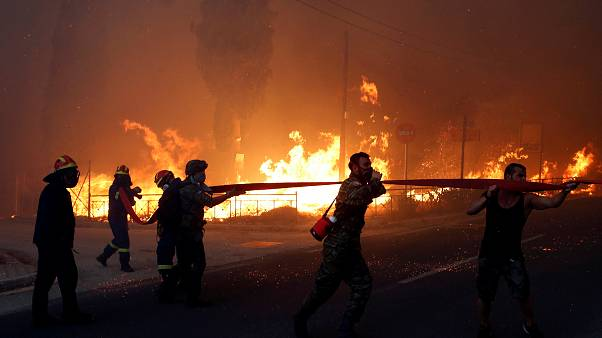 مصرع 75 شخصا بسبب حرائق الغابات في اليونان