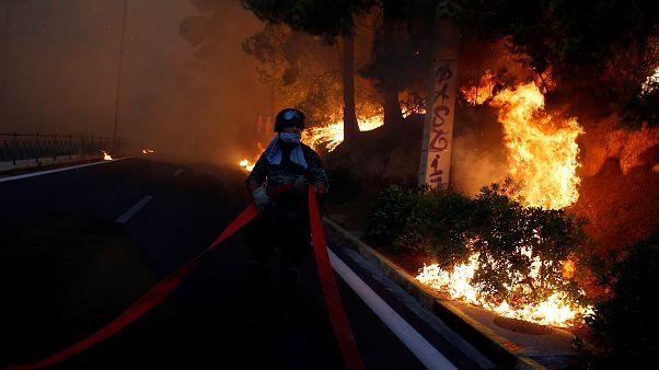 Ötvenen haltak meg a görög erdőtűzben