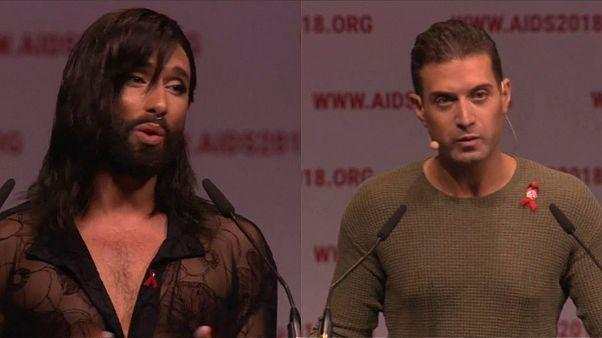 المرأة الملتحية وحفيد عمر الشريف يفتتحان المؤتمر الدولي حول الإيدز