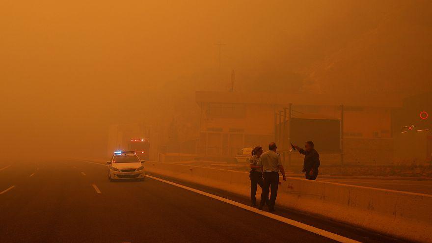 Schreckliche Feuer in Griechenland: 10 Fotos