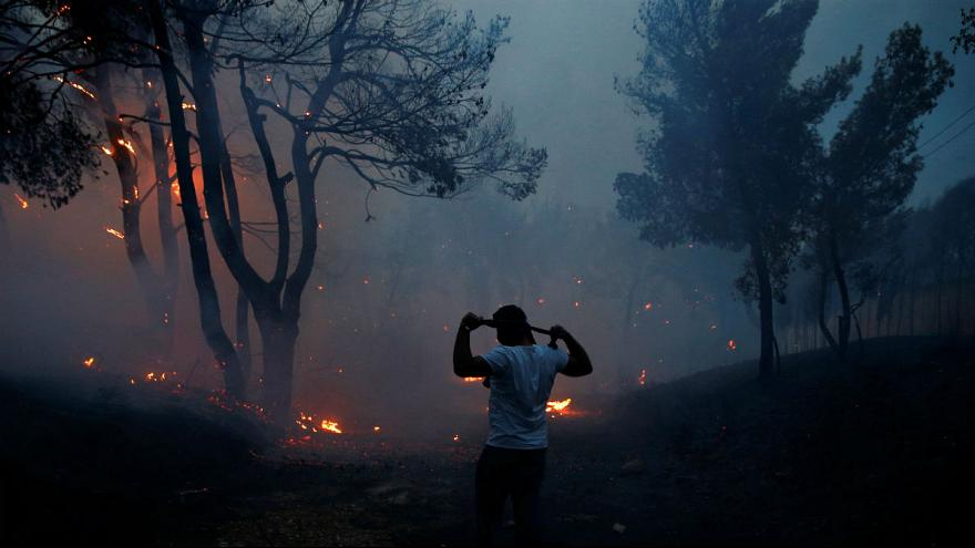 Greece appeals for help after deadly fires ravage coast