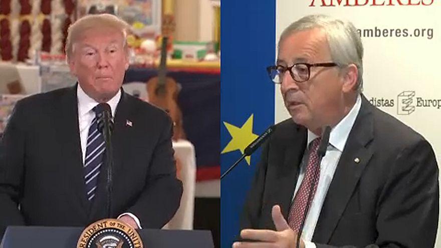 ترامب و يونكر والسبل الكفيلة لبحث التوتر التجاري بين واشنطن و بروكسل