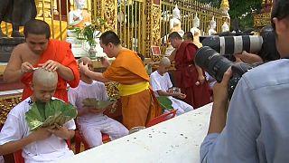 """""""I ragazzi della grotta"""" diventano novizi buddisti"""