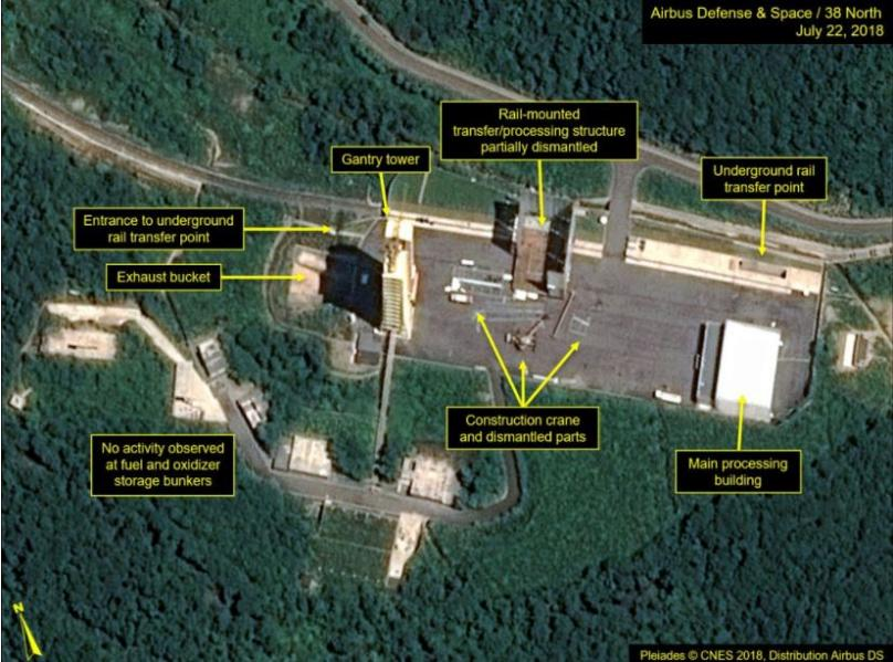 Satellite photos show North Korea 'dismantling rocket launch site'