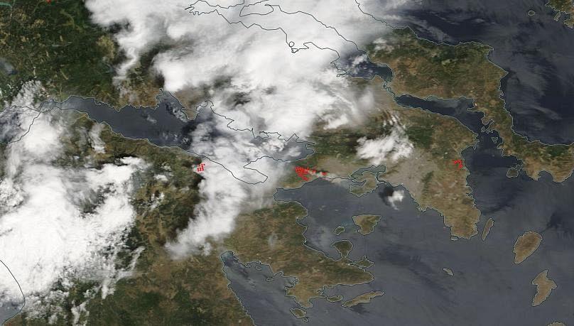 La Grecia continua a bruciare. Potrebbero essere oltre 100 le vittime