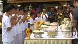 Thai cave boys and their coach attend Buddhist temple ceremony