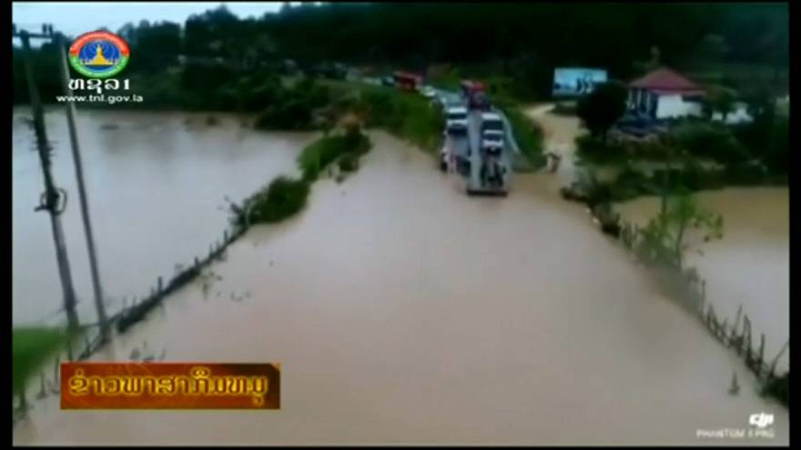 """شاهد: مئات المفقودين جراء انهيار سد في """"لاوس"""""""