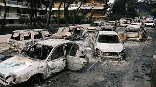 Grèce : les corps de 26 personnes piégées par les flammes retrouvés