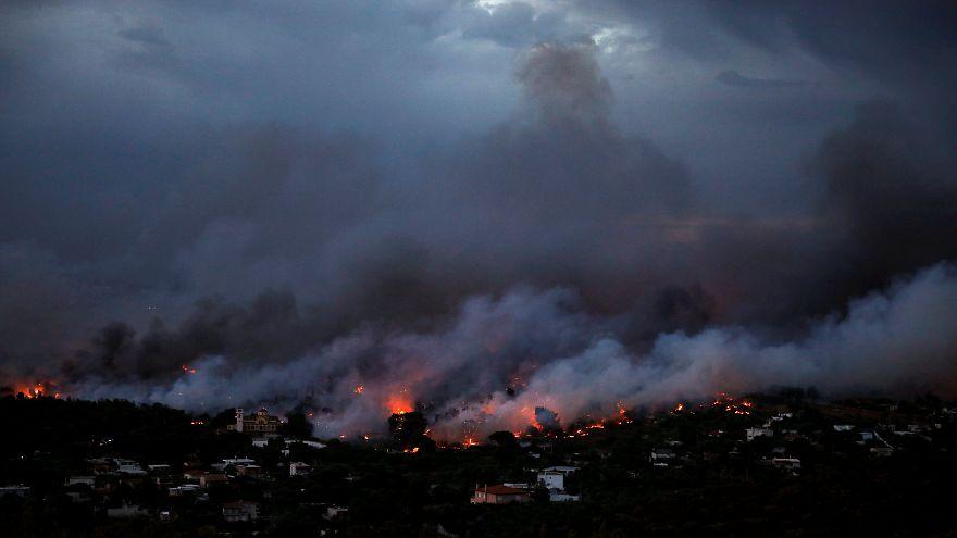 Face aux incendies l'UE apporte son soutien à la Grèce
