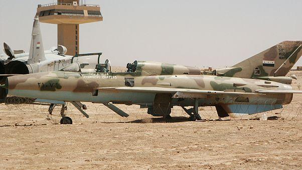 شاهد: لحظة اعتراض صواريخ إسرائيلية لطائرة حربية سورية
