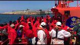 شاهد: خفر السواحل الإسباني ينقذ 312 مهاجراً من الغرق