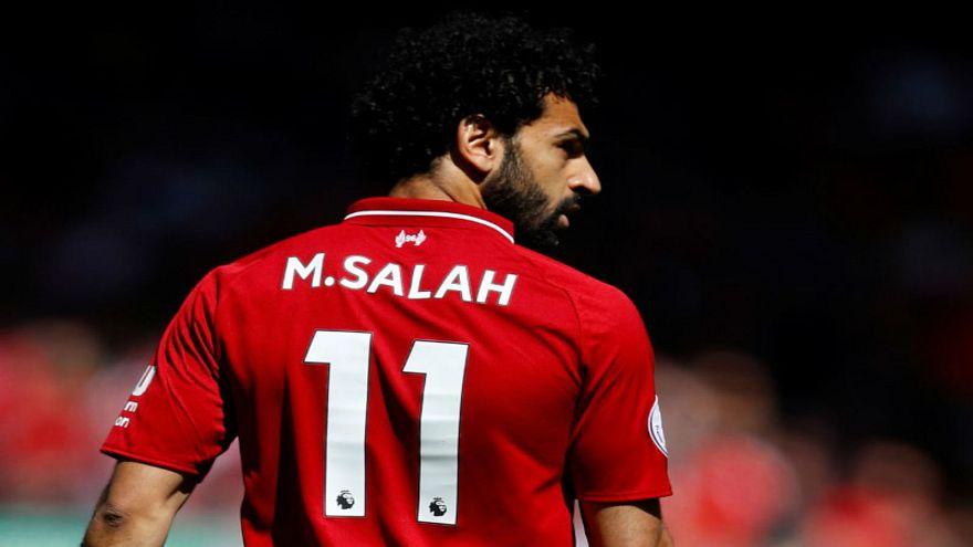 محمد صلاح لاعب ليفربول خلال مباراة في الدوري الإنجليزي الممتاز لكرة القدم
