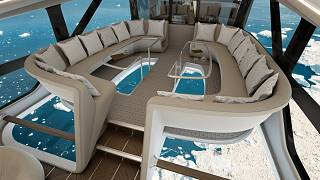 A luxury yacht in the skies