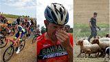Fransa Bisiklet Turu'na çiftçilerin protestosu ve polisin biber gazı damgasını vurdu