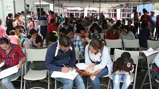 Жители Никарагуа бегут в Коста-Рику