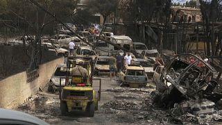 Mehr als 79 Tote durch Feuerkatastrophe - Suche nach Vermissten dauert an