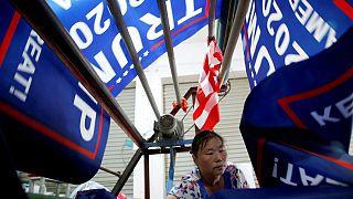 دردسر پرچمهای انتخاباتی ساخت چین برای ترامپ