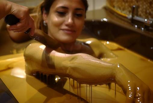 The Natftalan bath oil, Azerbaijan's slick beauty treatment