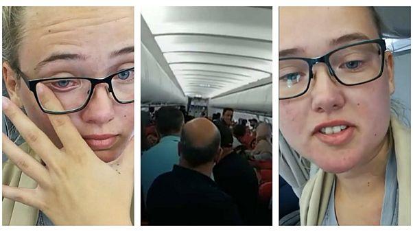 دختر سوئدی مانع پرواز هواپیمای حامل پناهجوی اخراجی افغان شد