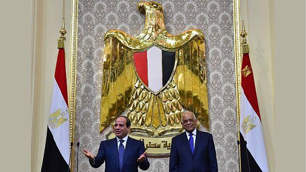 الرئيس المصري عبد الفتاح السيسي ورئيس مجلس النواب علي عبد العال